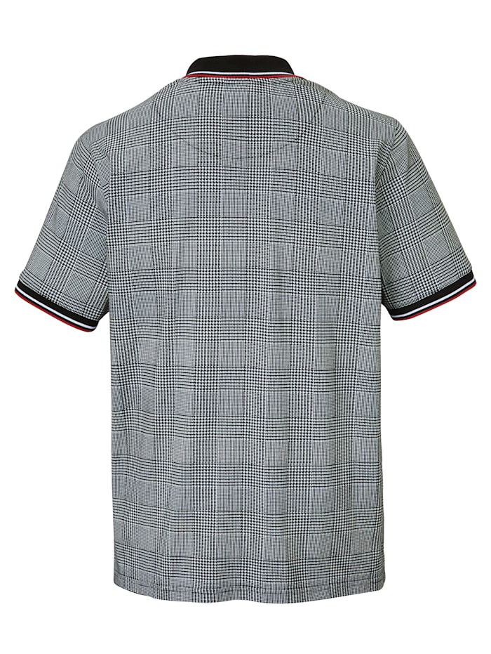 Poloshirt met trendy pied-de-pouledessin