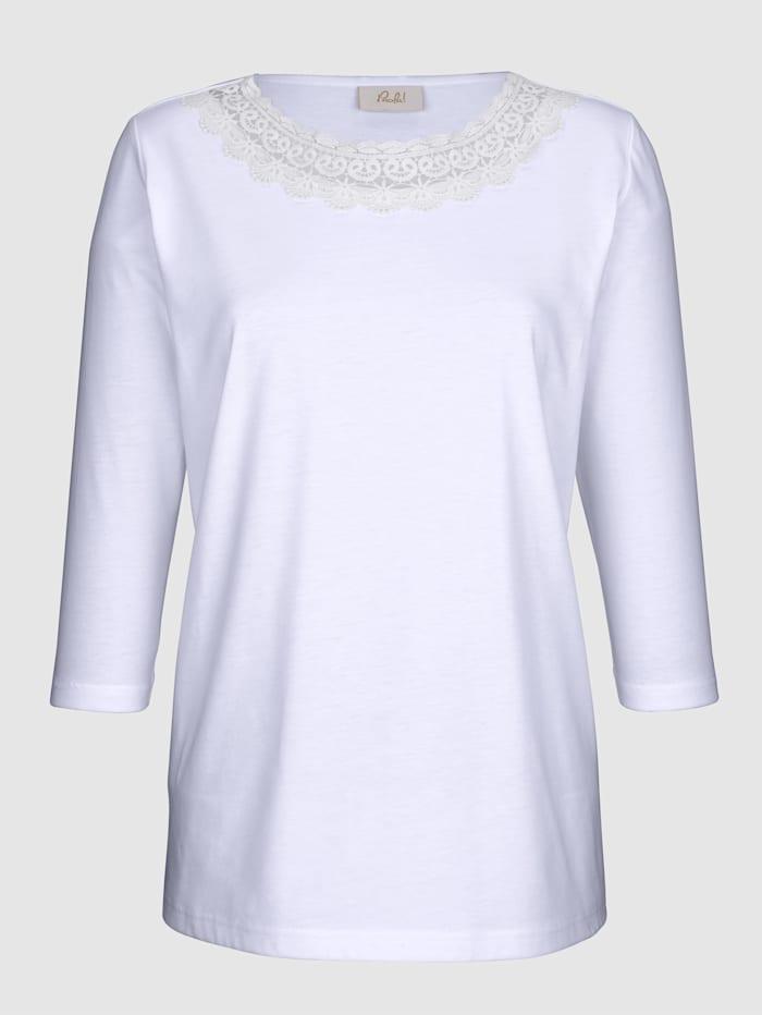 Shirt mit Spitzenapplikation