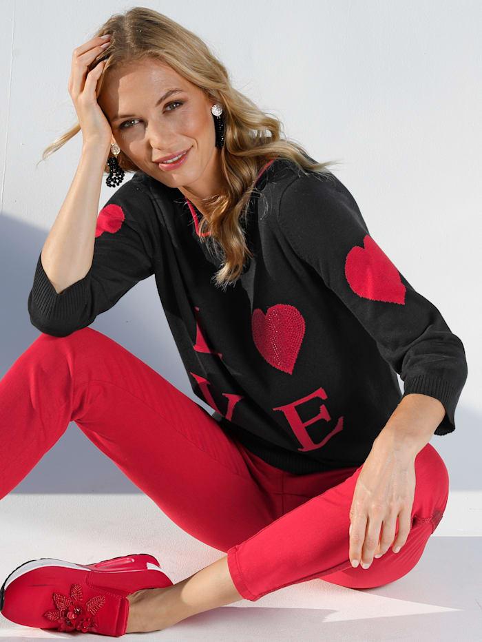 Pullover mit LOVE-Schriftzug