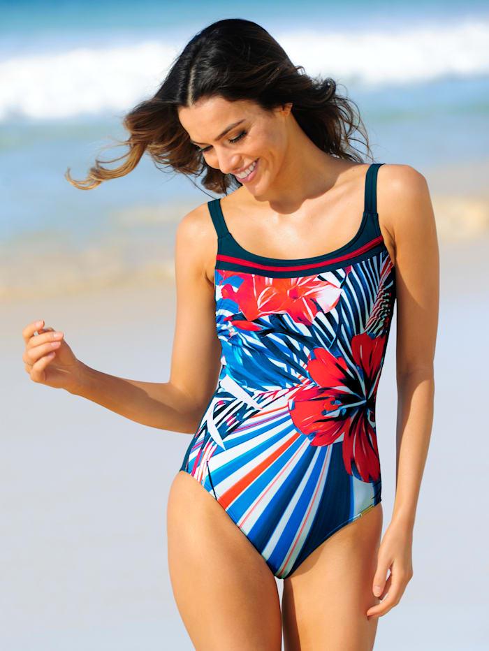 Sunmarin Badeanzug für Brustprothesen geeignet, Türkis