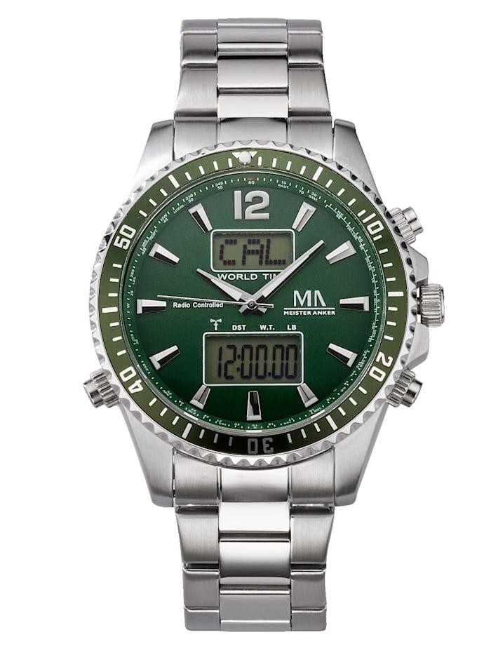 Meister Anker Herren-Funk-Uhr Chronograph, Grün