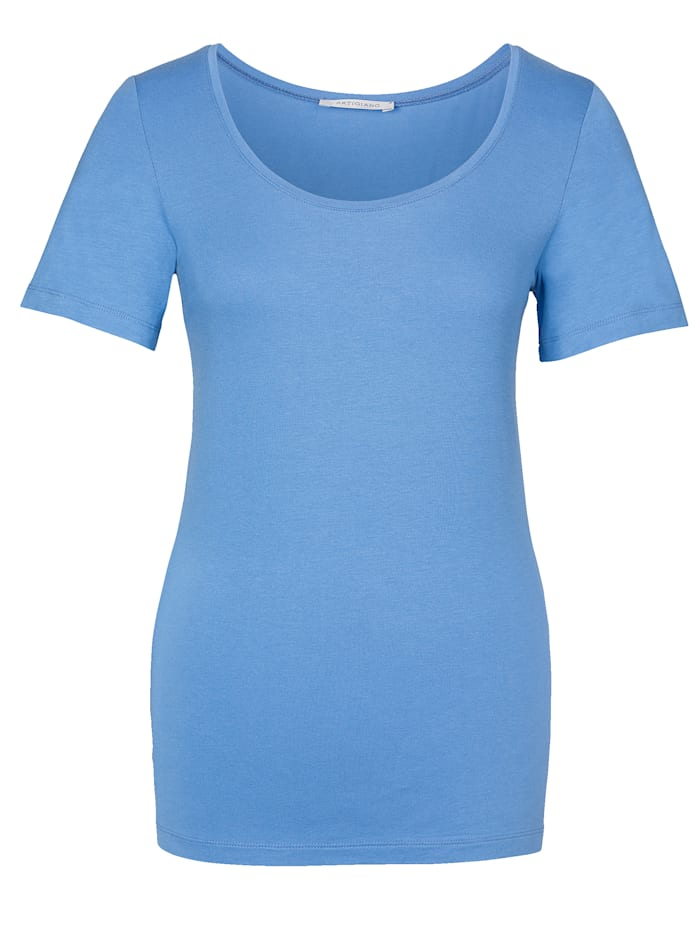 Short sleeve jersey top with a hint of stretch