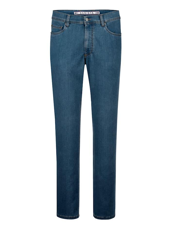 BABISTA Jeans i mjukt material med lyocell, Ljusblå
