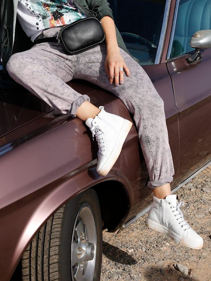 MIAMODA Jeans in Moonwashed Optik, Rosé