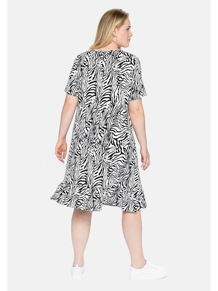 Jerseykleid mit Animal-Alloverdruck