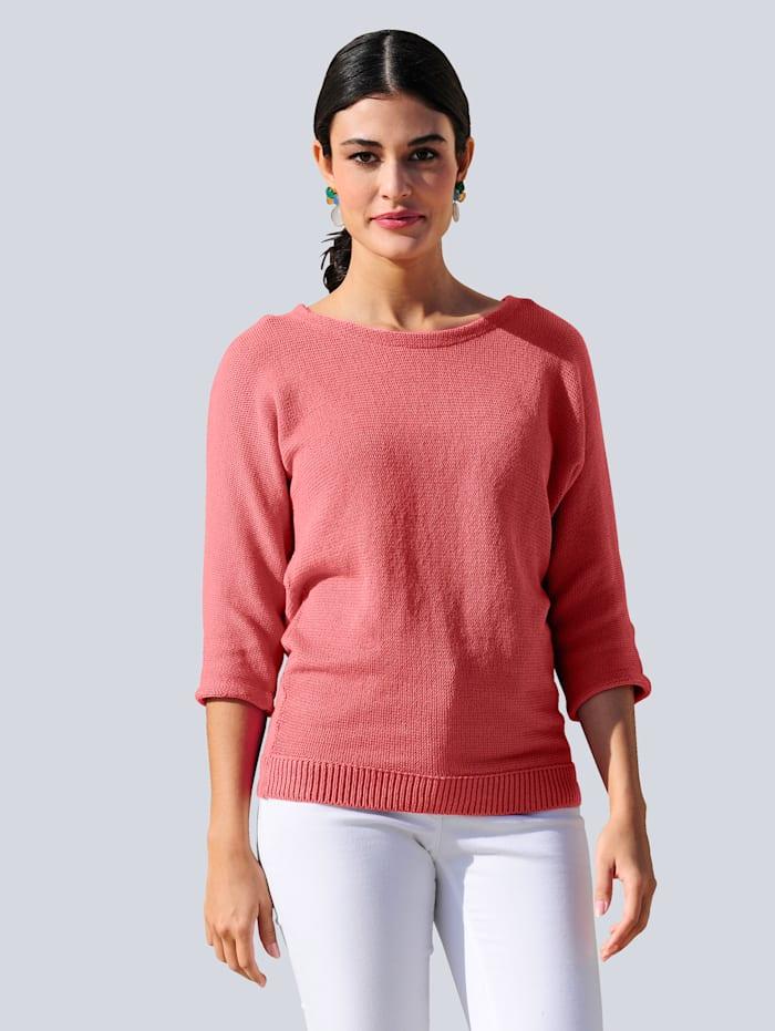 Alba Moda Pullover im Linksstrick, Koralle