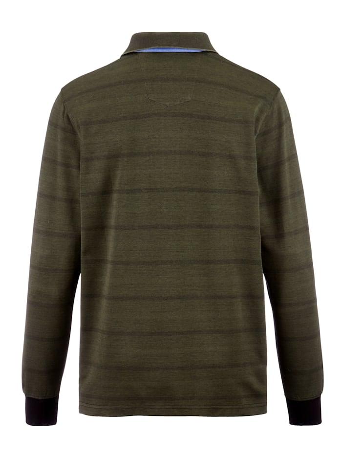 Poloshirt mit Jaquardmuster