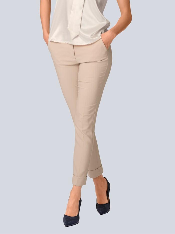Alba Moda Hose in softer Anzugware, Beige