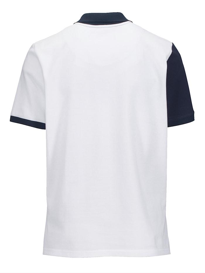 Poloshirt mit farbigen Einsätzen