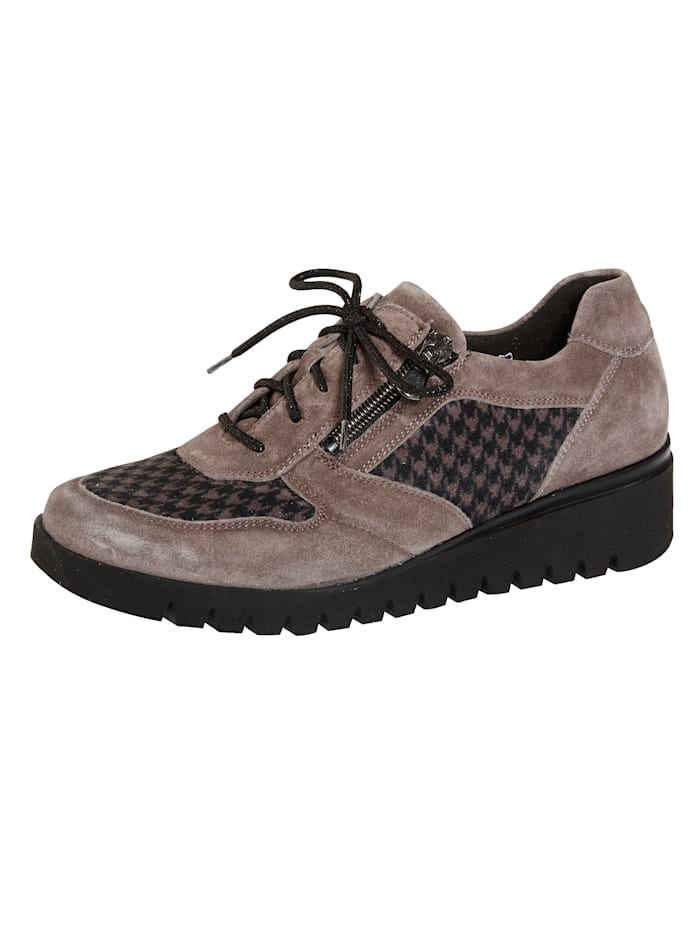 Waldläufer Lace-up shoes with a comfortable sole, Taupe