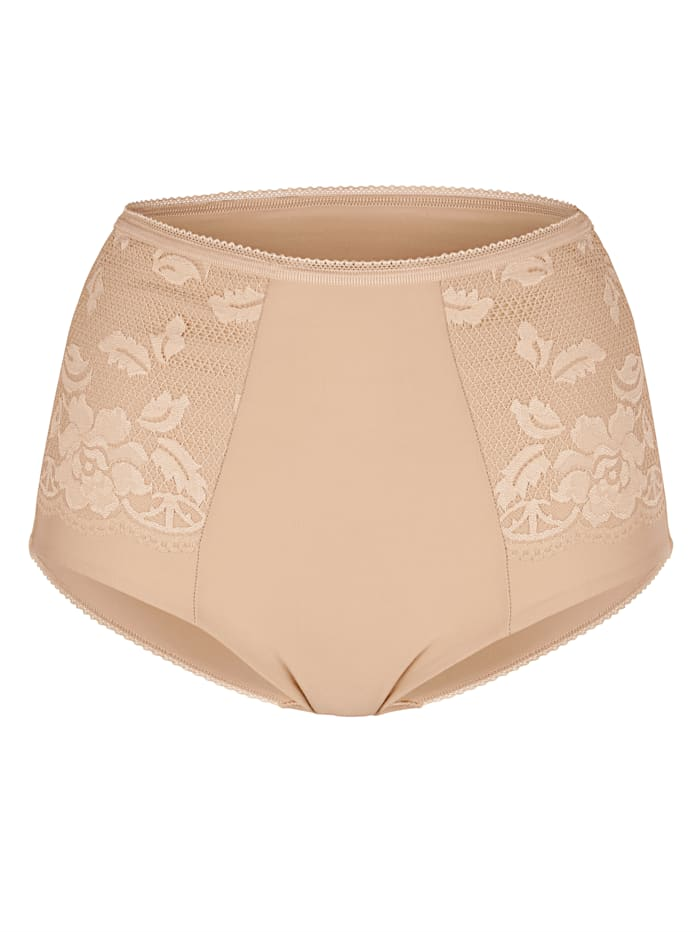Miss Mary High rise briefs with smoothing effect, Nude