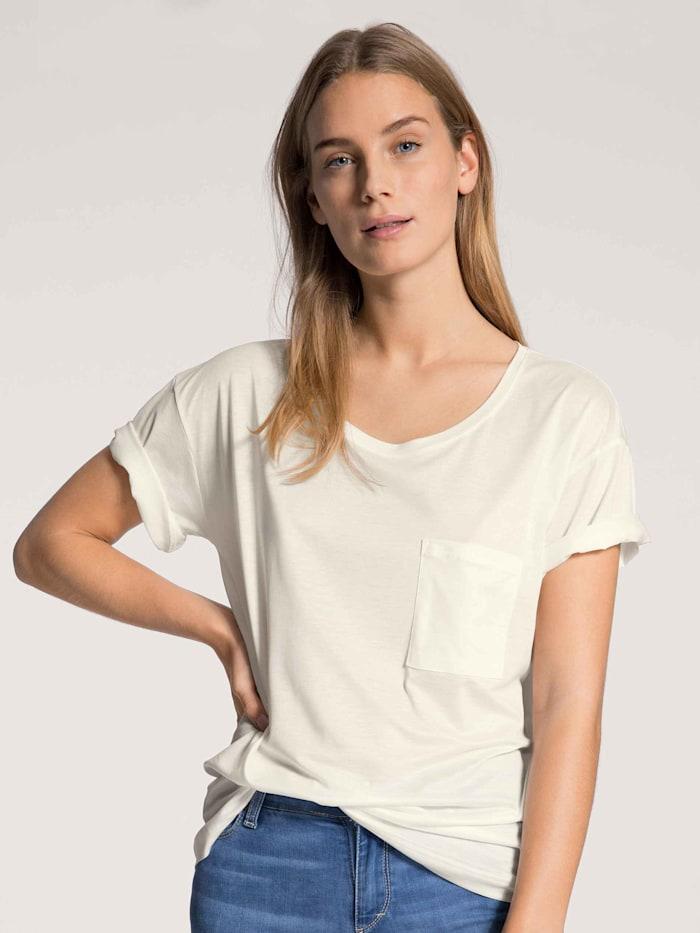 Calida Damen Kurzarm-Shirt, Compostable Ökotex zertifiziert, star white