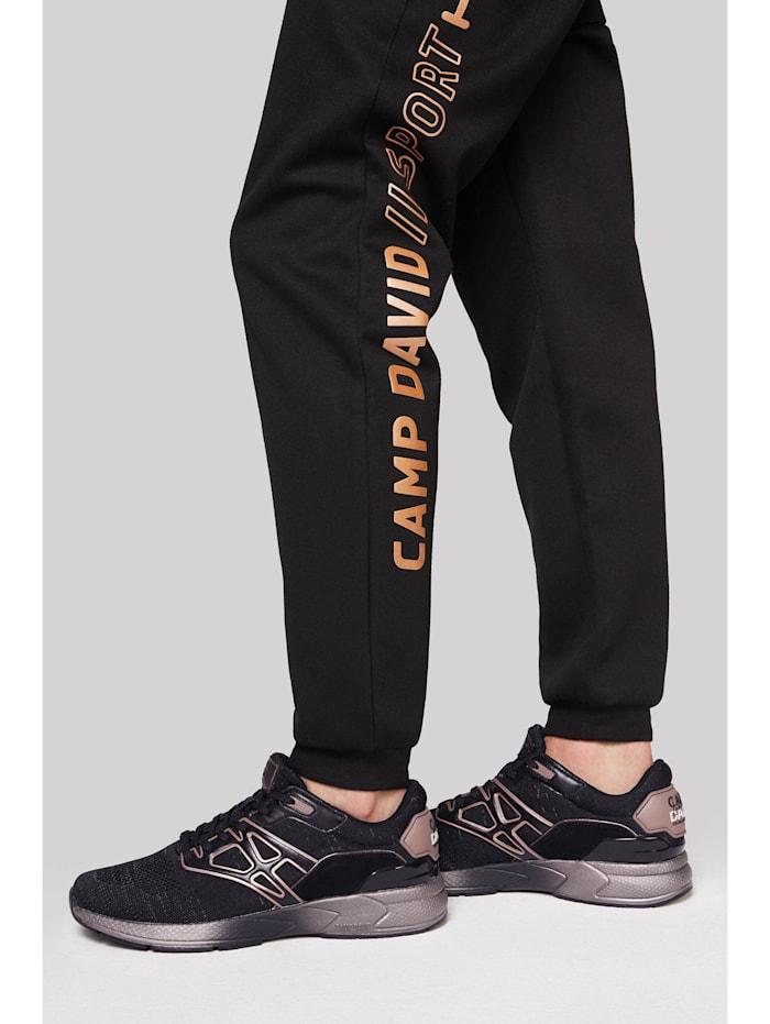 Camp David Premium Sneaker mit Strick-Design, black