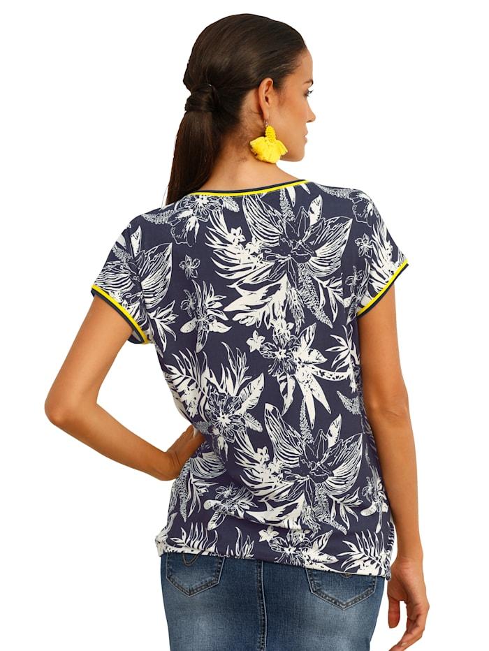 Shirt mit Pailletten im Vorderteil