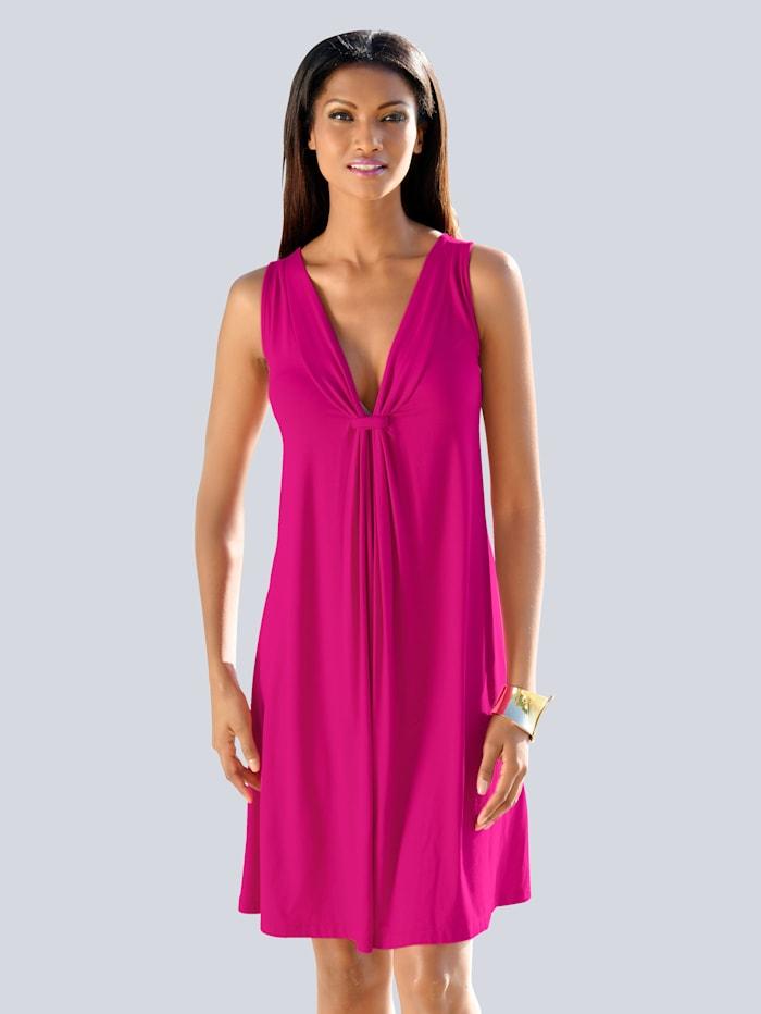 Alba Moda Longtop mit raffiniertem Ausschnitt, pink