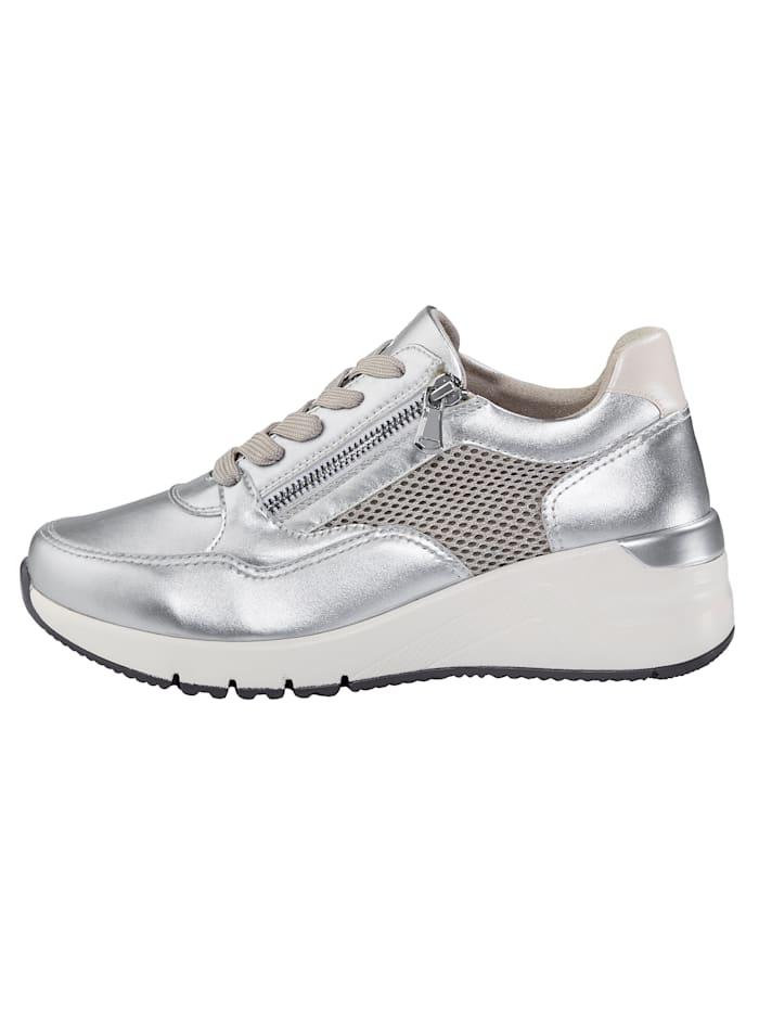 Sneakers med luftig mesh