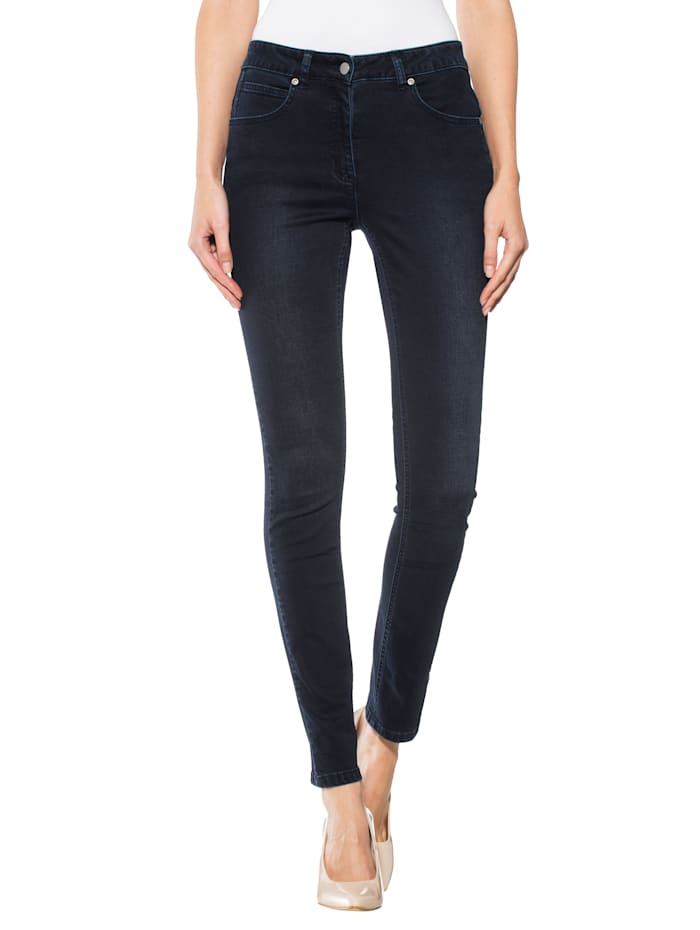 Alba Moda Jeans mit figurgünstiger Schnittführung, Dunkelblau