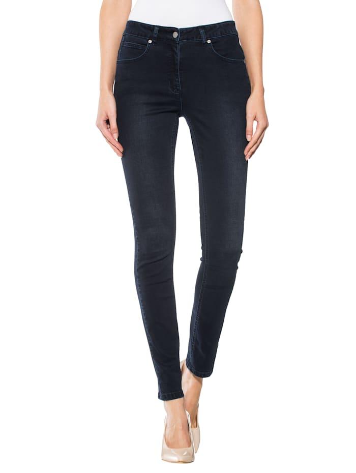 Alba Moda Jeans in flatterend model, Donkerblauw