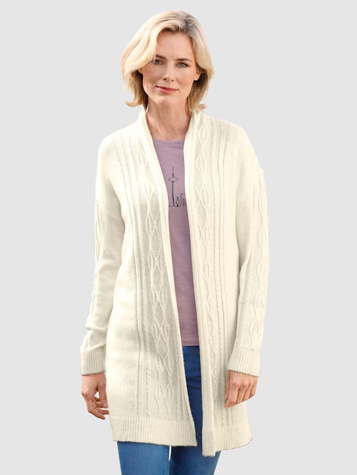 Dress In Vest met kabelpatroon, Wolwit