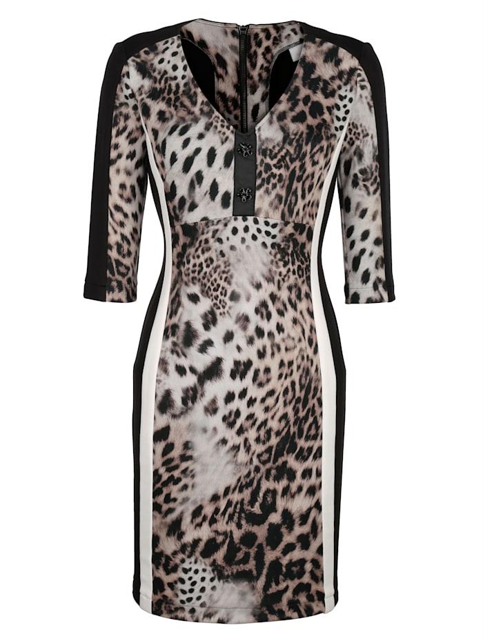 Kleid im modischen Leodruck