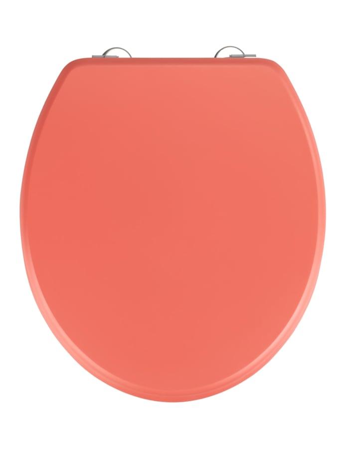 Wenko WC-Sitz Prima Coral matt, MDF, Coral, Befestigung: Silber matt