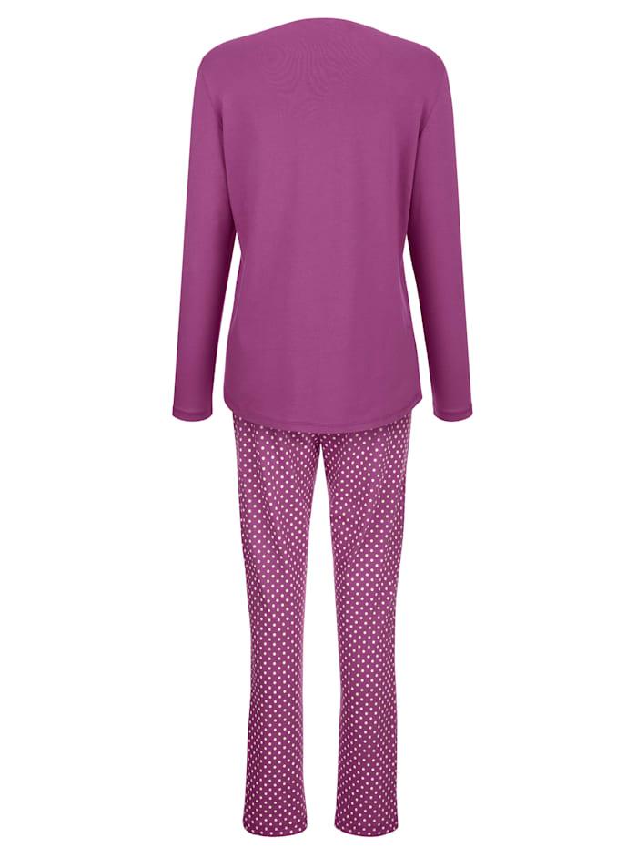 Schlafanzug mit hübschem Gänseblümchen Druck