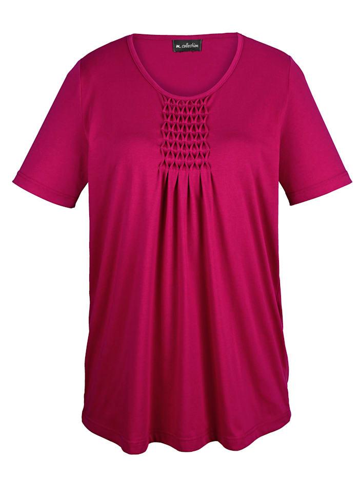 m. collection Shirt in figurschmeichelnder Longform, Beere