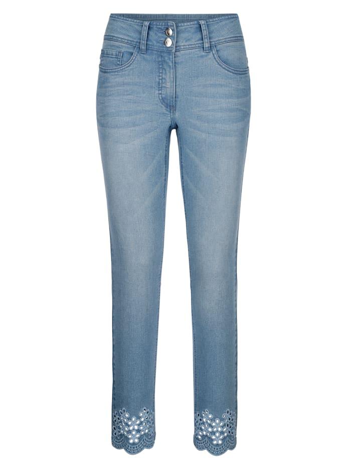 Laura Kent Jeans Laura Slim - mit Cutout Stickerei, Blue bleached