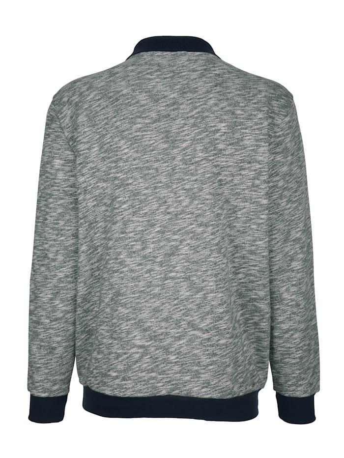 Sweatshirt mit Kontrastbesätzen