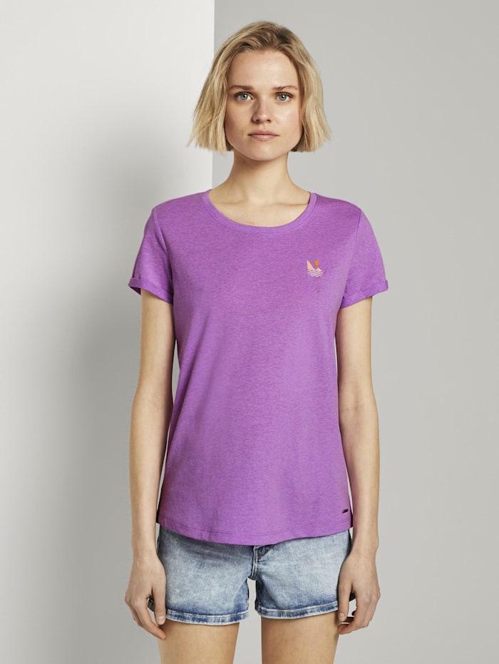 Tom Tailor Denim T-Shirt mit dezentem Print, light berry
