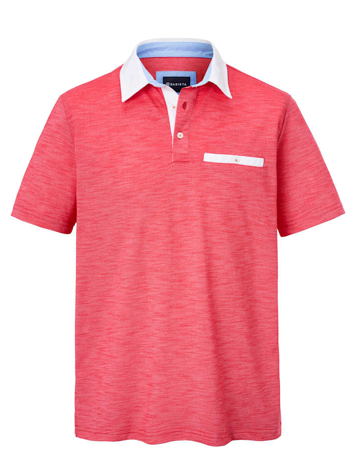 BABISTA Poloshirt in bicolor look, Rood