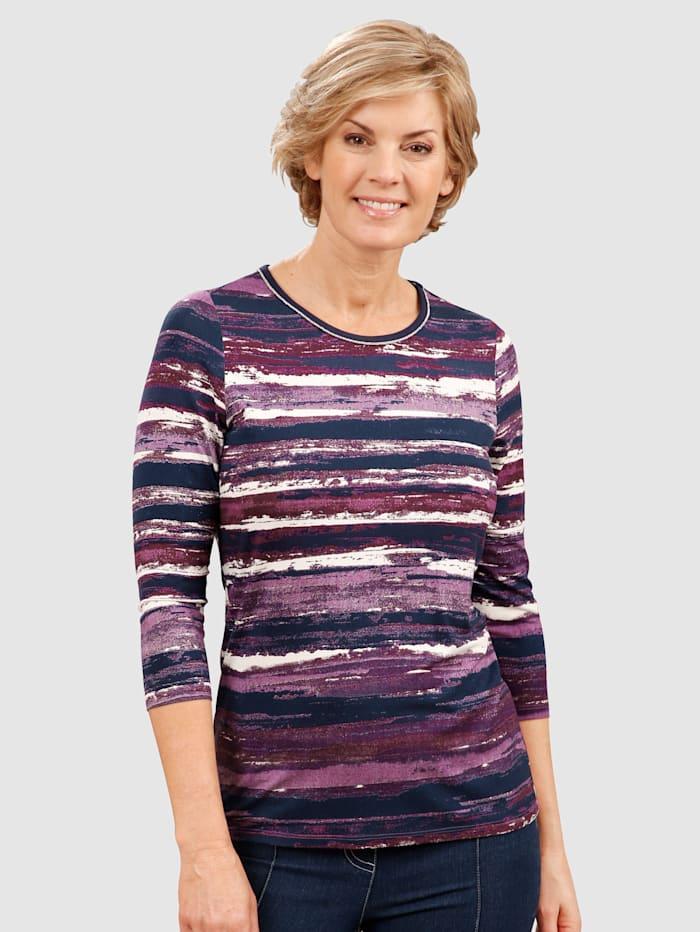 Paola Shirt in raffinierter Streifenoptik, Beere