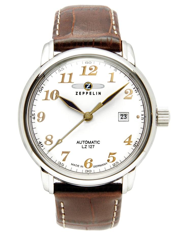 Zeppelin Herren-Armbanduhr LZ127 Graf Zeppelin Automatik 7656-5, beige