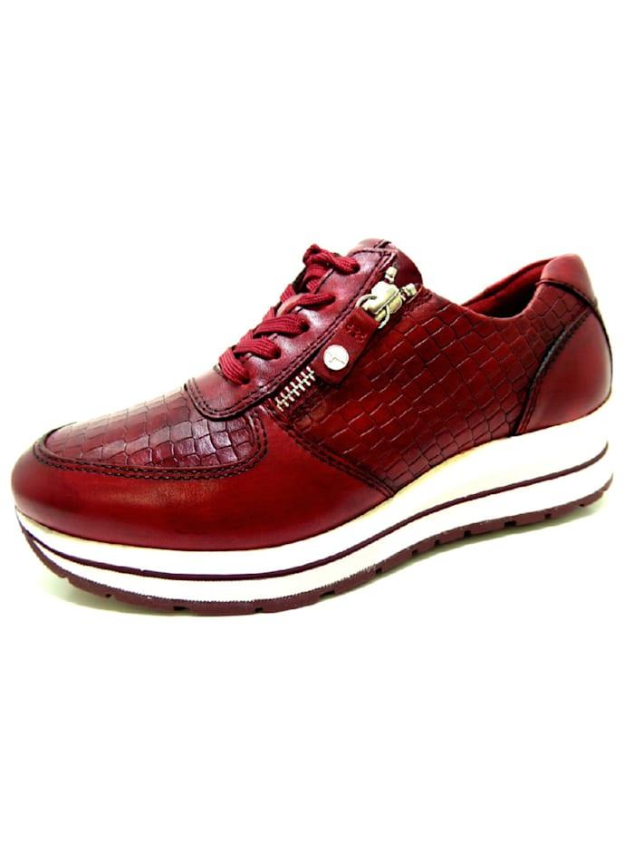 Tamaris Damen Schnürschuh in rot, rot