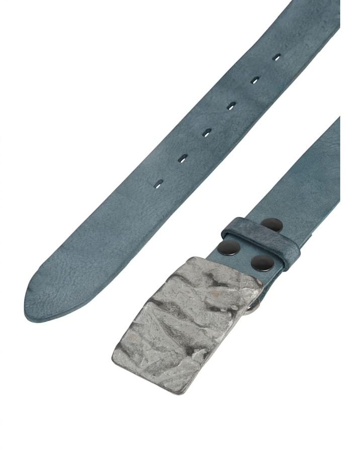 Echtledergürtel Gump mit schicker Steinstrukturschließe