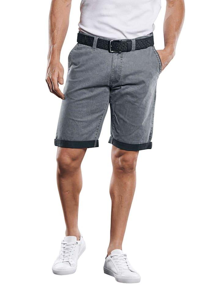 Engbers Doppelt gefärbte Shorts mit komfortablem Elasthananteil, Silbergrau