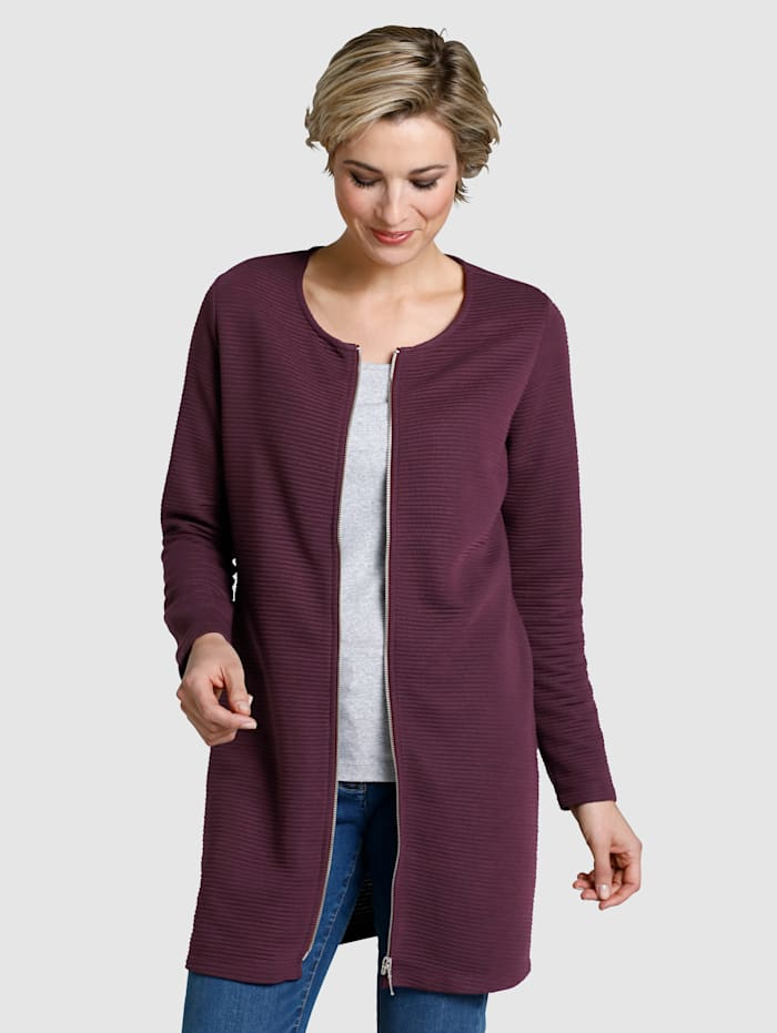 Dress In Cardigan Relaxed cut, Berry