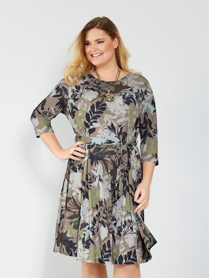 Jerseykleid mit floralem Dessin