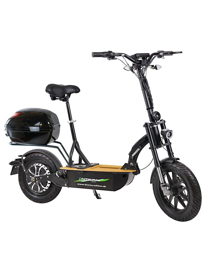 """FORCA DIDI THURAU EDITION Elektroroller """"Eco-Tourer"""" 20 km/h Safety mit Schlüsselschalter, Tachometer und und Rückspiegel, schwarz"""
