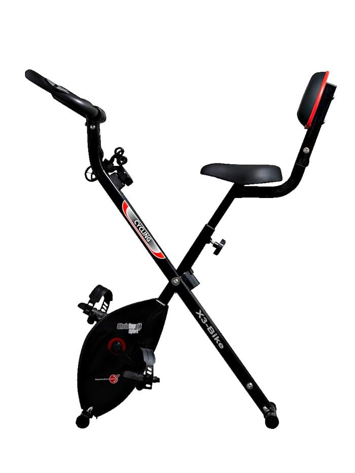 Christopeit Kokoontaittuva kuntopyörä X3 Bike 3 in 1, musta