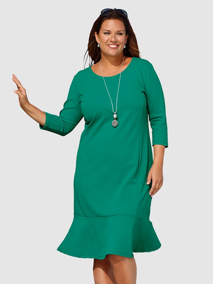 m. collection Kleid mit feinen Details, Grün