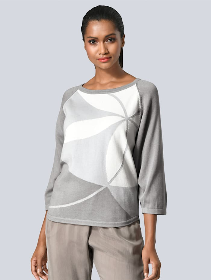 Pullover mit Alba Moda exklusivem Muster