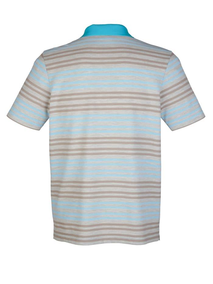 Poloshirt mit Jacquardstreifen