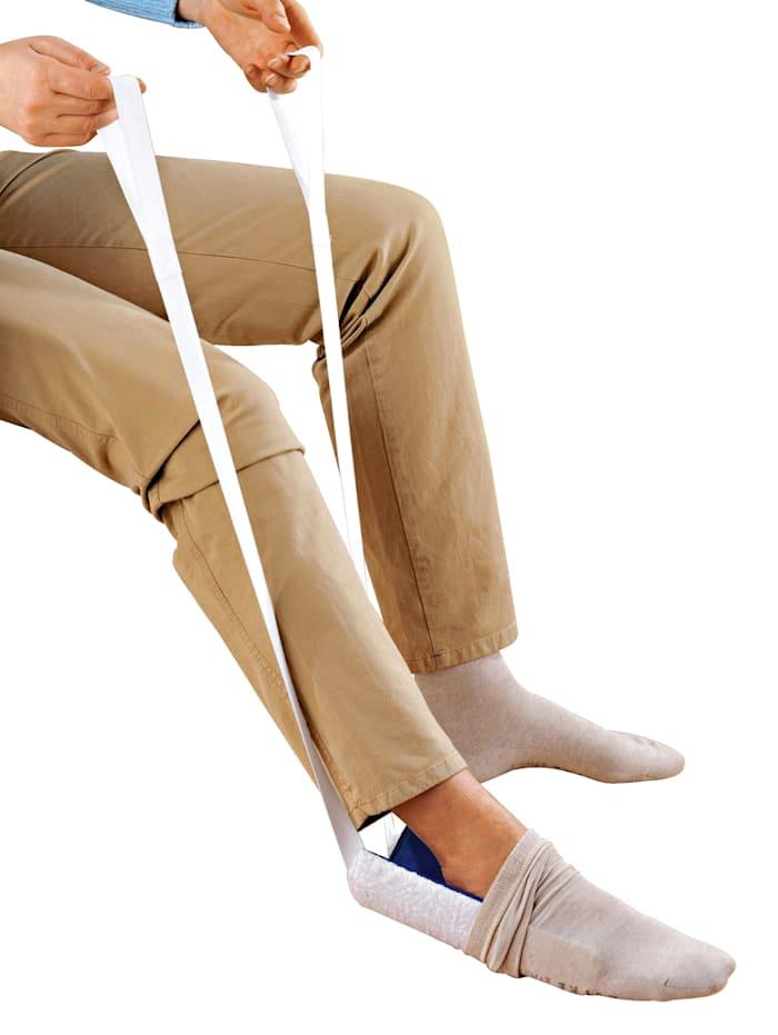Wenko Socken-und Strumpfanzieher Socken anziehen ohne Bücken, blau/weiß