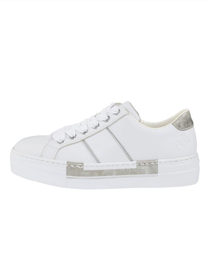 Sneakers med skinnfotbädd