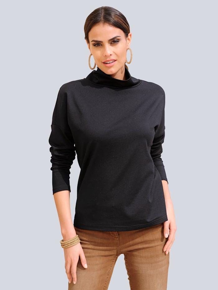 Alba Moda Shirt met platte kraag, Zwart