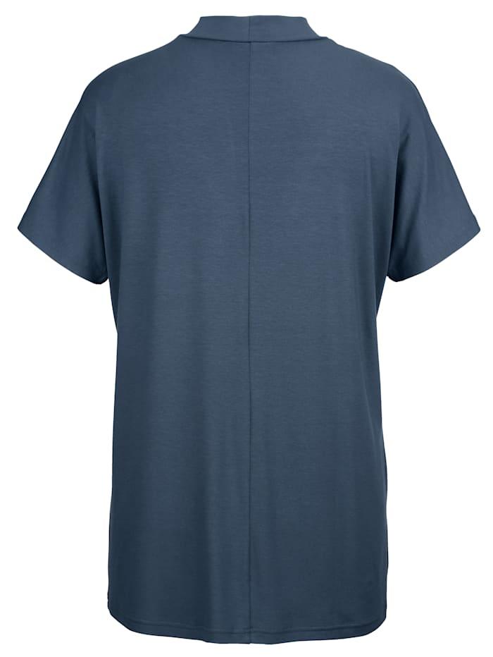 Shirt mit schmalem Stehkragen