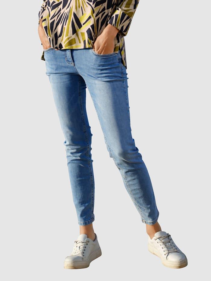 Laura Kent Jeans met decoratieve naad, Medium blue