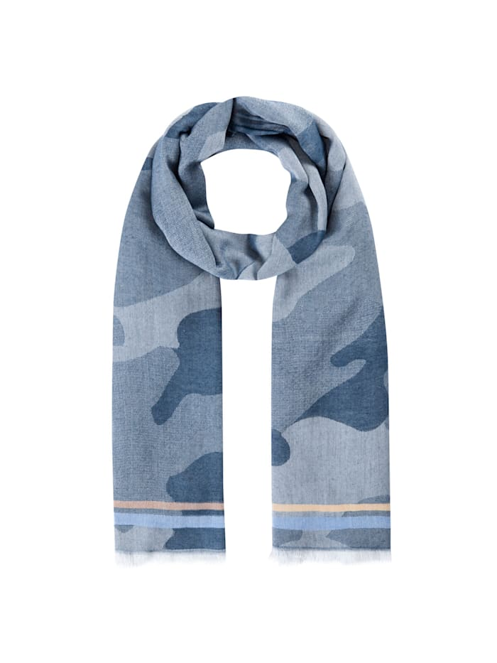 Codello Jacquard-Schal aus edler Viskose, jeans blue