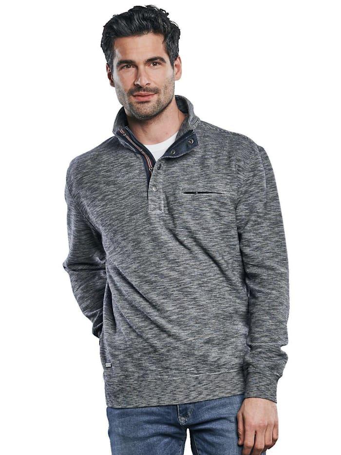 Engbers Sportives Sweatshirt in Strukturware, Taubenblau